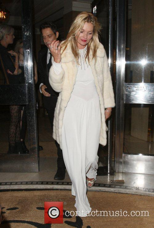 Non Exclusive: Kate Moss and Jamie Hince leaving...