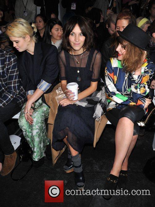 Pixie Geldof, Alexa Chung and Jaime Winstone London...