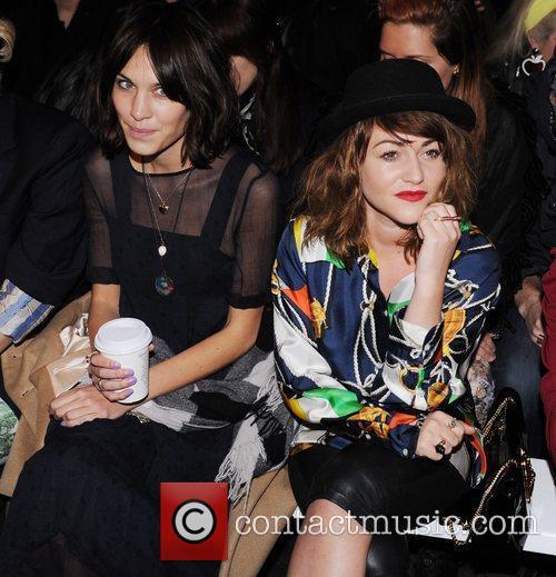 Alexa Chung and Jaime Winstone London Fashion Week...