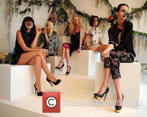 Models  London Fashion Week Spring/Summer 2012 -...