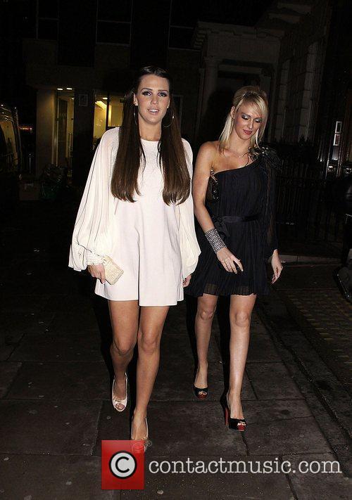 Danielle Lloyd and a friend London Fashion Week...
