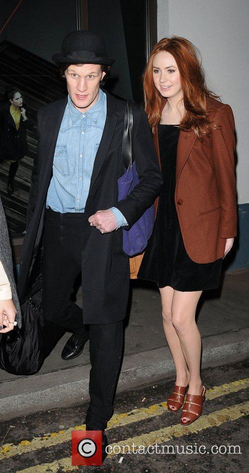 Matt Smith and Karen Gillan London Fashion Week...