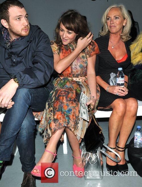 Jaime Winstone with mother Elaine Winstone London Fashion...