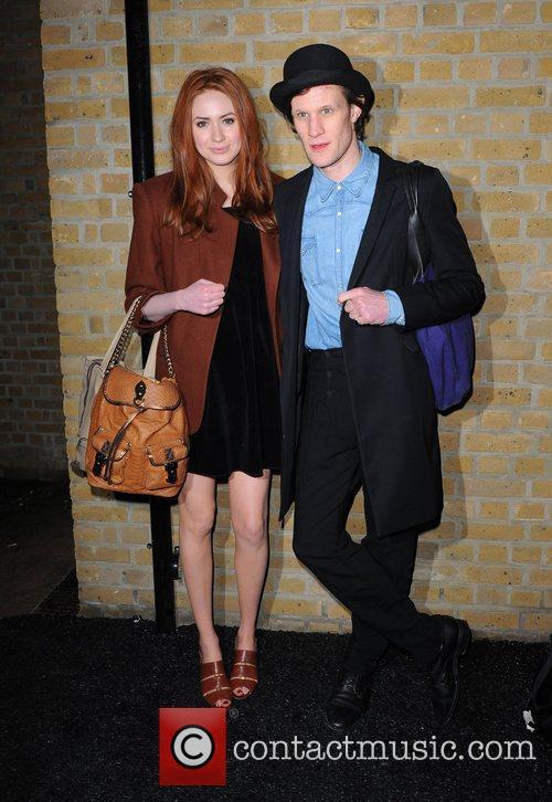 Karen Gillan and Matt Smith London Fashion Week...