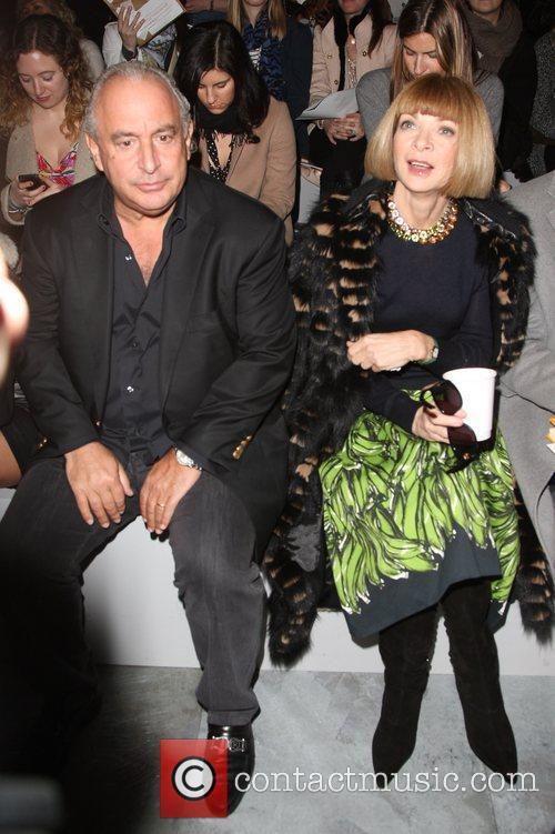 Sir Phillip Green and Anna Wintour London Fashion...