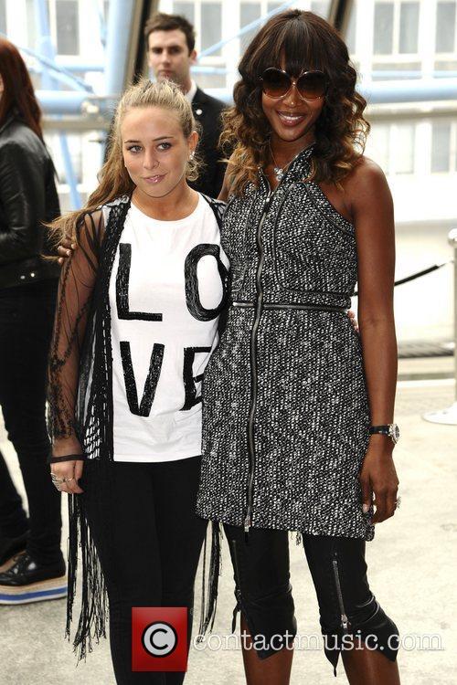 Chloe Green and Naomi Campbell London Fashion Week...
