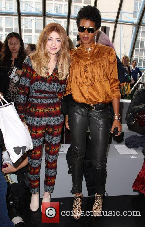 Nicola Roberts and Kelis London Fashion Week Spring/Summer...