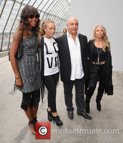 Naomi Campbell, Sir Phillip Green London Fashion Week...