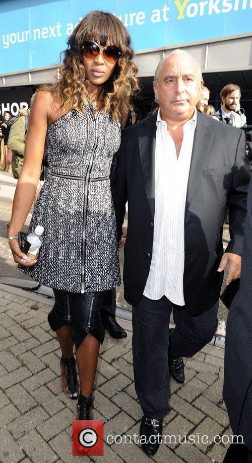 Naomi Campbell and Sir Philip Green London Fashion...
