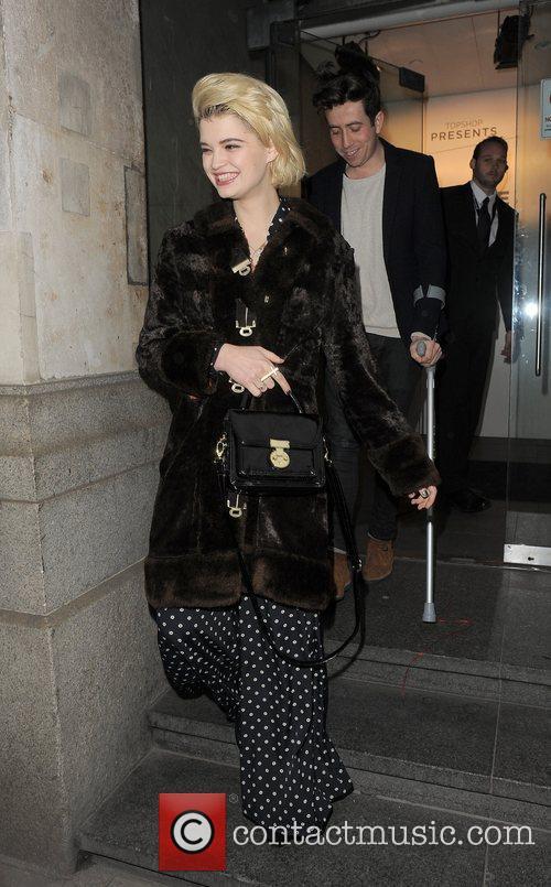 Nick Grimshaw and Pixie Geldof London Fashion Week...