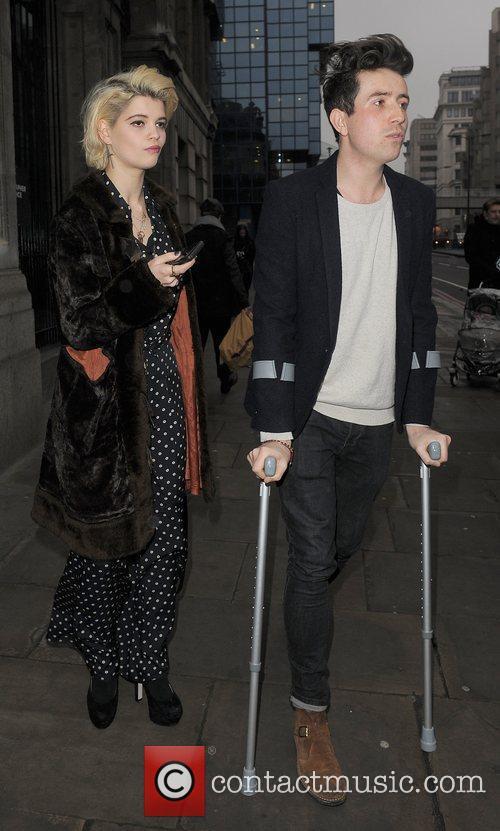 Pixie Geldof and Nick Grimshaw London Fashion Week...