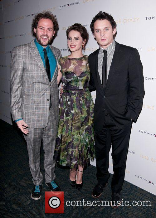 Anton Yelchin and Felicity Jones 2