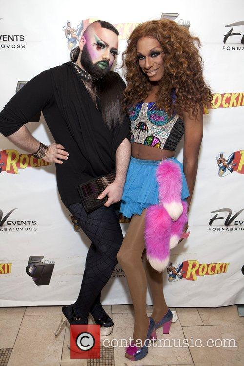 Lil Kim and Amanda Lepore perform together at...