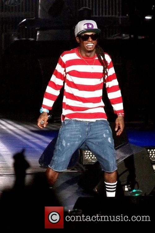 Lil Wayne performs on stage during the 'I...