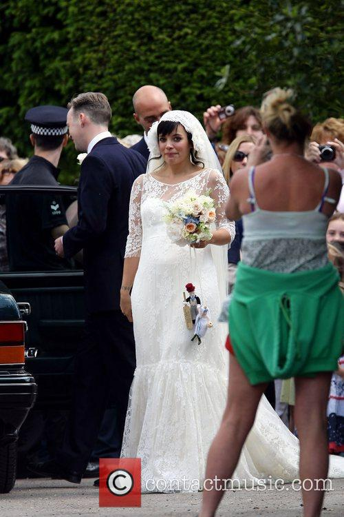 Lily Allen arriving  The wedding of Lily...