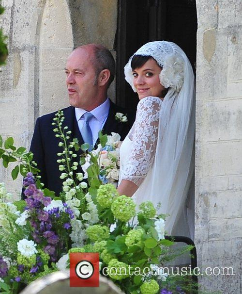 Lily Allen, alongside her father Keith Allen, arriving...