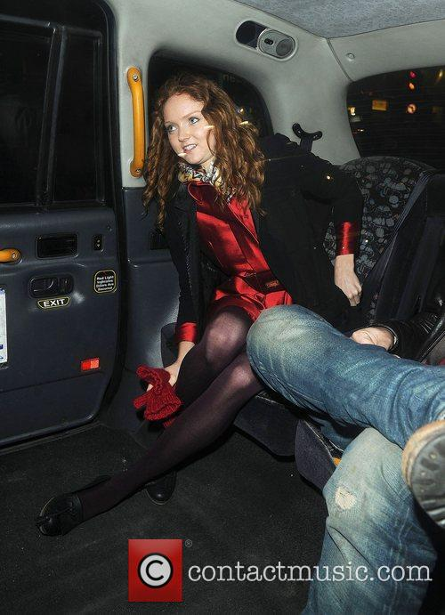 Lily Cole out and about in Soho. London,...