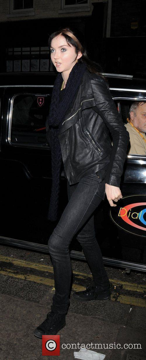 Arriving at Groucho Club dressed in all black