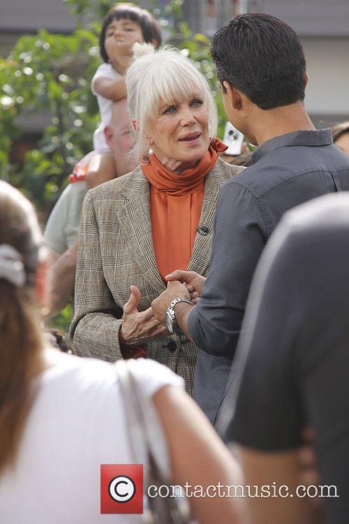 Linda Evans interviewed by Mario Lopez at The...