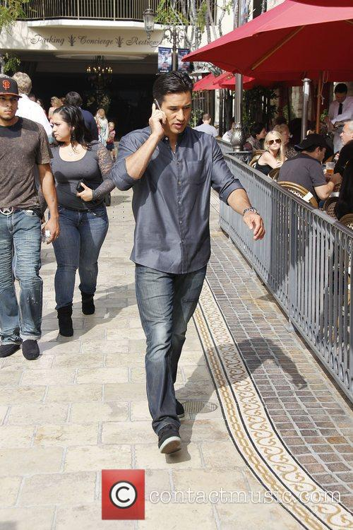 Mario Lopez at The Grove for entertainment television...