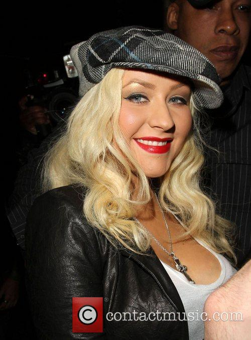 Christina Aguilera Celebrities attending a live performance by...