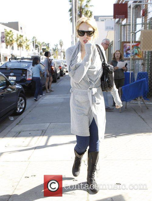 Lindsay Lohan leaving a sunglasses store in Venice....