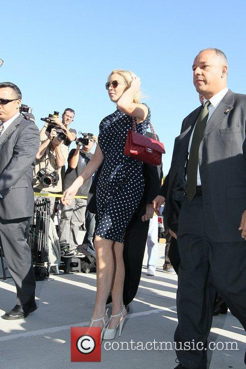 Lindsay Lohan  arrives at the Los Angeles...