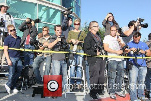 Press, Atmosphere Lindsay Lohan arrives at the Los...