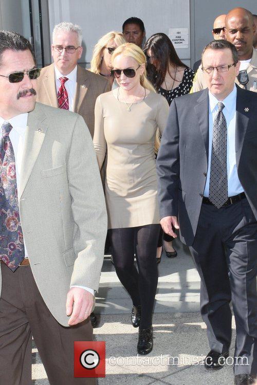 Lindsay Lohan and Dina Lohan depart the Los...