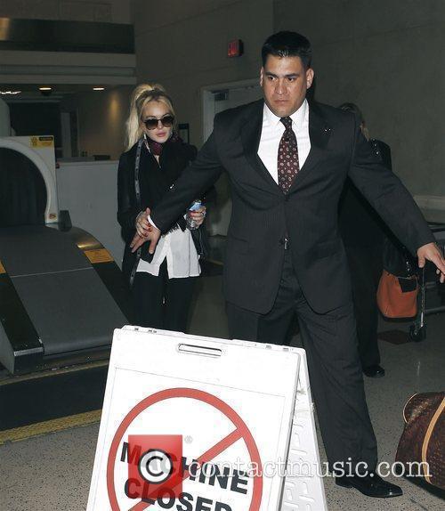 Lindsay Lohan at LAX Airport Los Angeles, California