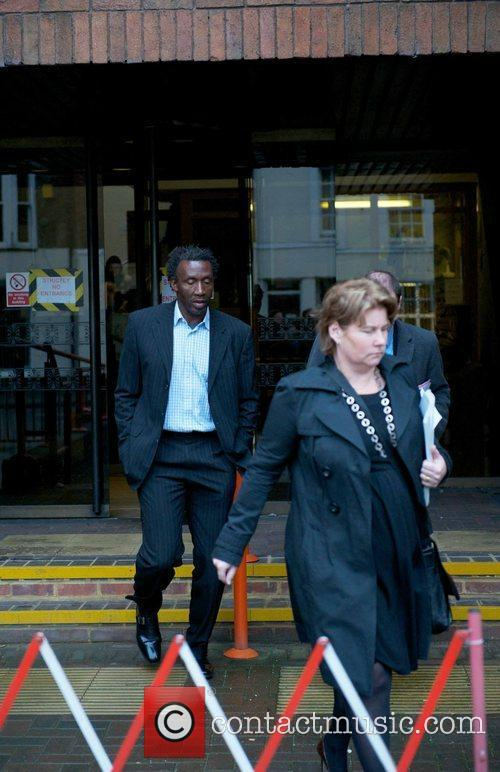 Linford Christie leaves High Wycombe Court today after...