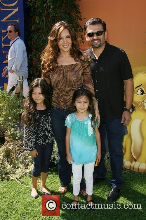 Maria Canals-Barrera and family World Premiere of Disney's...