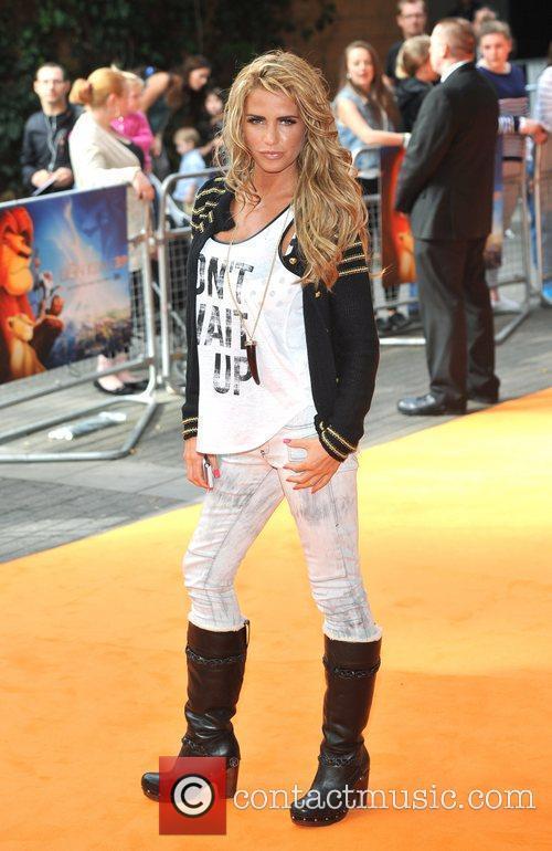 Katie Price The Lion King 3D UK premiere...
