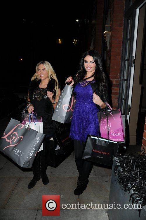 Chloe Sims and Frankie Essex leave the Lipsy...