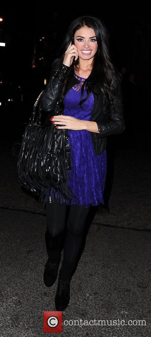 Chloe Sims arrives at Rosso Restaurant. Manchester, England