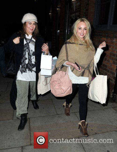 Georgi Porter and Nicole Barber Lane leave the...