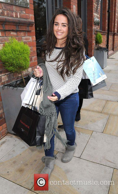 Georgia May Foote leaves the Lipsy gifting event...