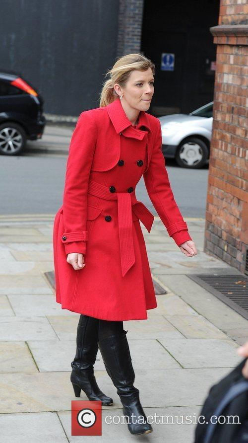 Jane Danson arrives for a Lipsy gifting event...