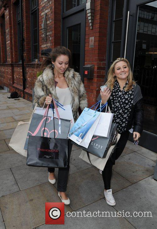 Lucy Dixon and Jazmine Franks (right) leave the...