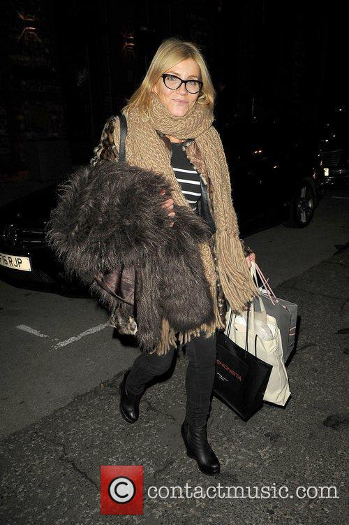 Michelle Collins leaves the Lipsy gifting event at...