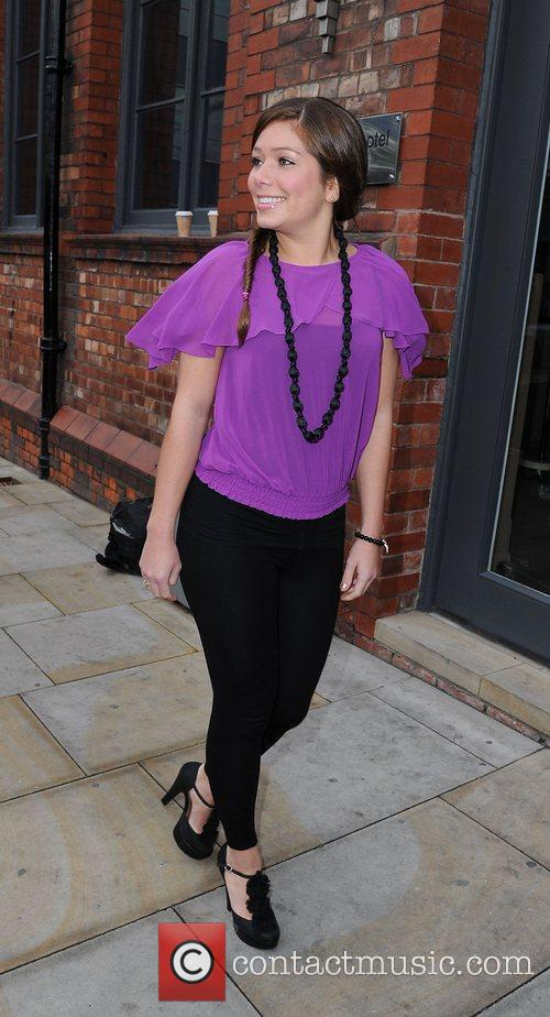 Nikki Sanderson arrives for a Lipsy gifting event...