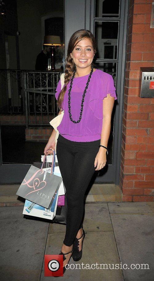 Nikki Sanderson leaves the Lipsy gifting event at...