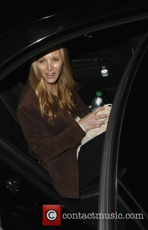 Lisa Kudrow outside the Elvis Costello concert at...
