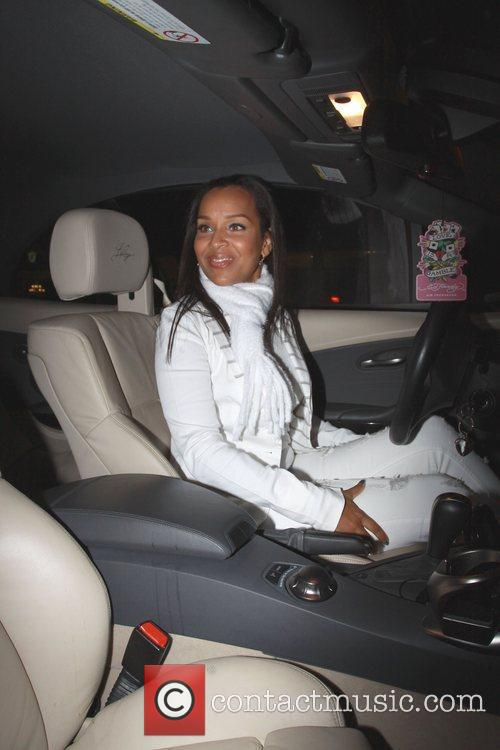 Lisa Raye is seen leaving Madeo restaurant in...