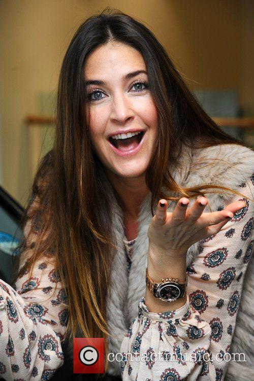 Lisa Snowdon picks up her new Lexus from...