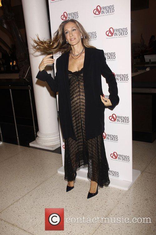 Sarah Jessica Parker wearing vintage Donna Karan...