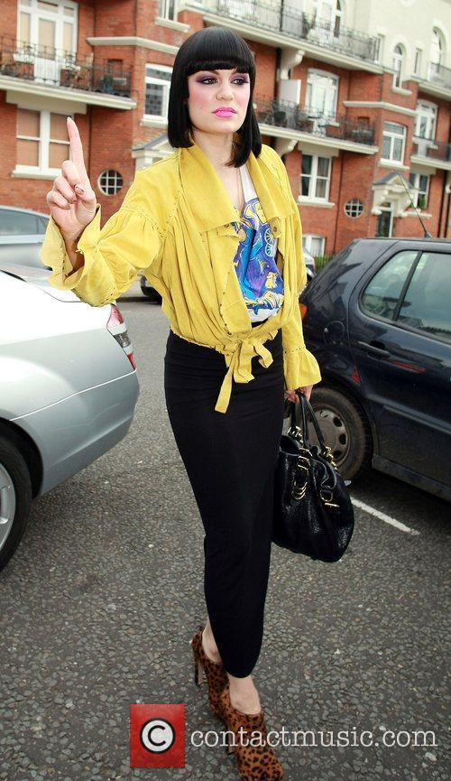 Jessie J at the BBC Maida Vale studios...