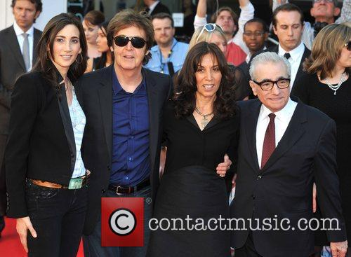 Sir Paul Mccartney, Martin Scorsese, Nancy Sorrell and Olivia Harrison 2