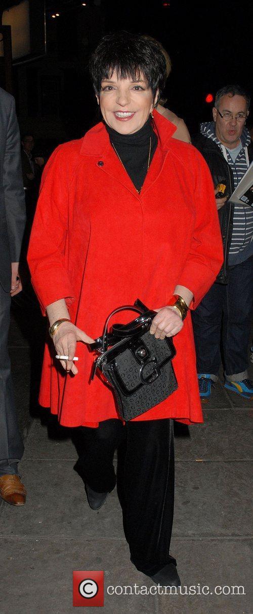 Liza Minnelli leaving 'The Umbrellas of Cherbourg' Theatre...