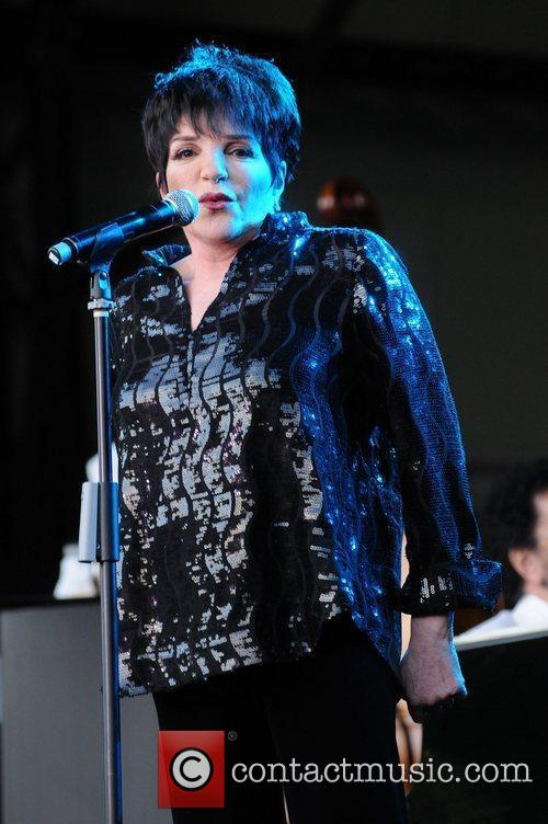 Liza Minnelli performs live in concert at Kenwood...